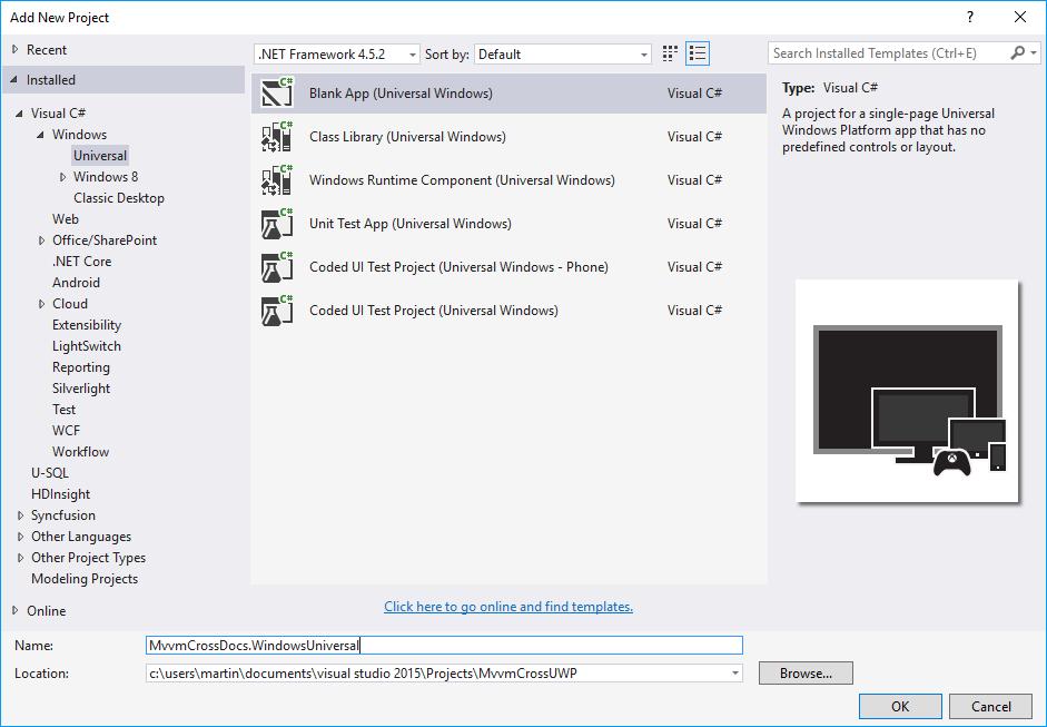 Universal Windows platform (UWP) | MvvmCross
